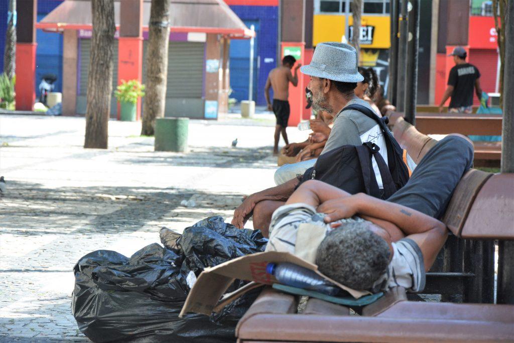 Praça do Ferreira - Pessoas em situação de rua