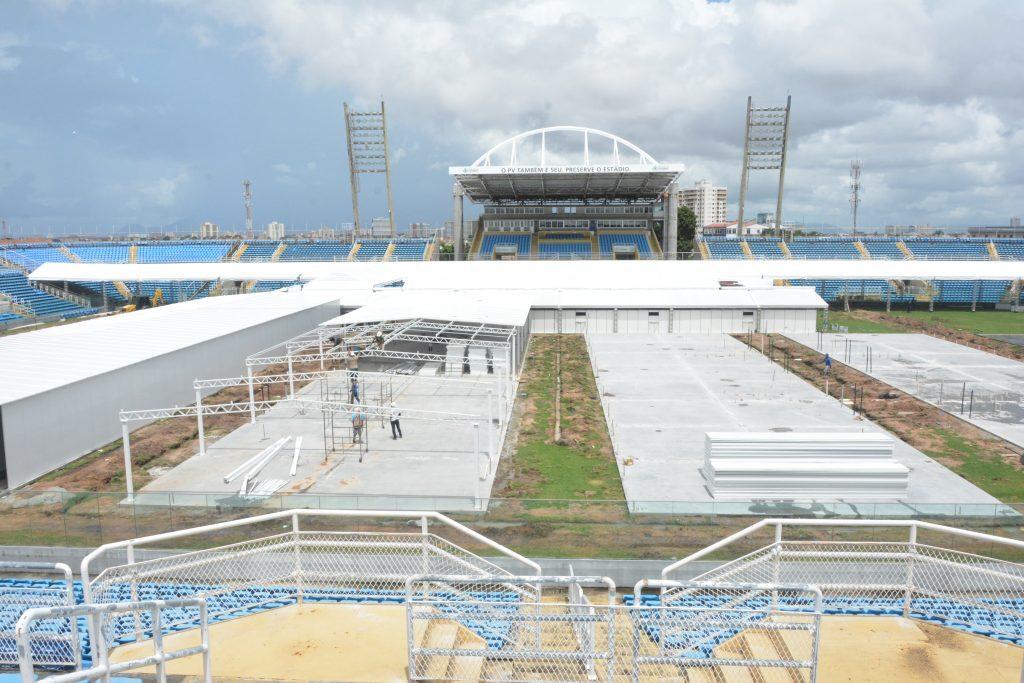 Construção do Hospital no estádio Presidente Vargas
