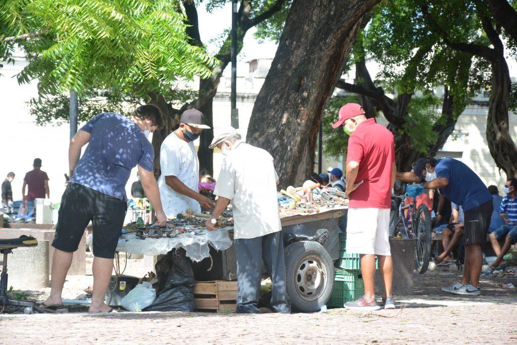 Movimentação no centro de Fortaleza durante isolamento social