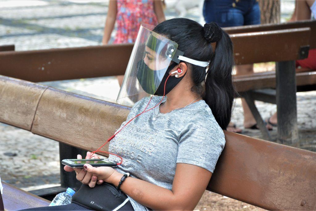 Movimentação de pessoas no centro de Fortaleza durante pandemia do corona vírus