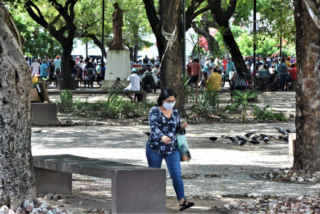 Praça da Lagoinha durante pandemia do corona vírus
