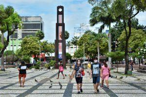 Praça do Ferreira durante pandemia do corona vírus