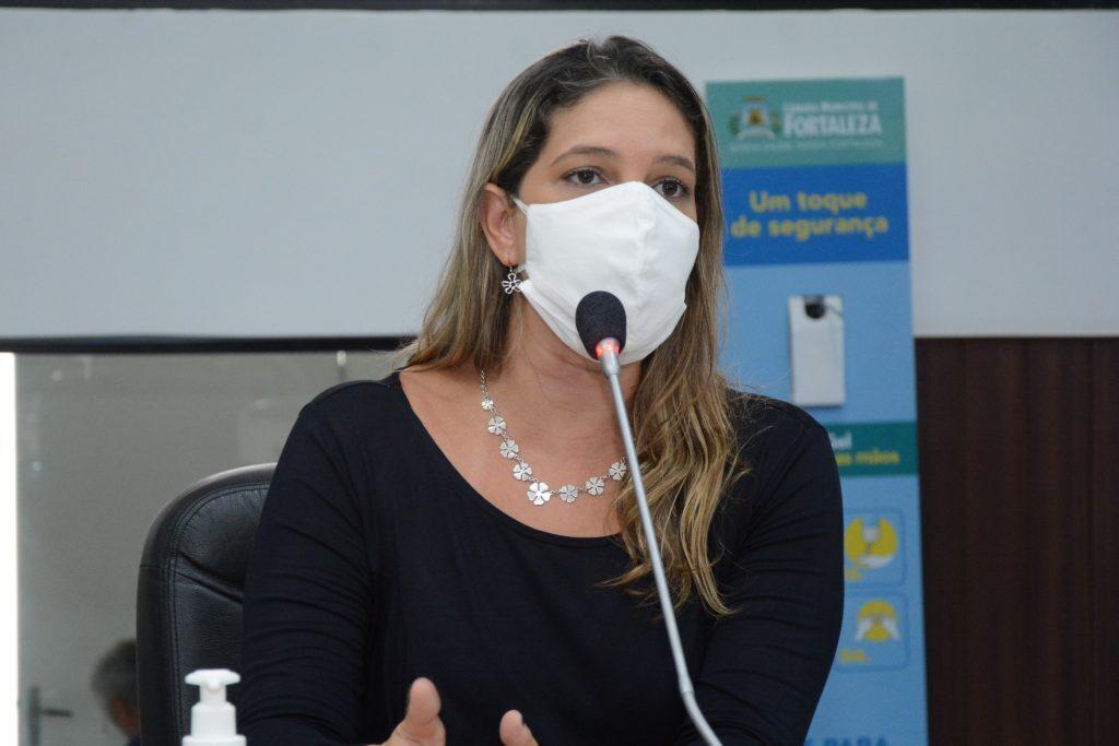 Sessão plenária Vereadora Larissa Gaspar Data: 02.03.2021 Foto: Érika Fonseca