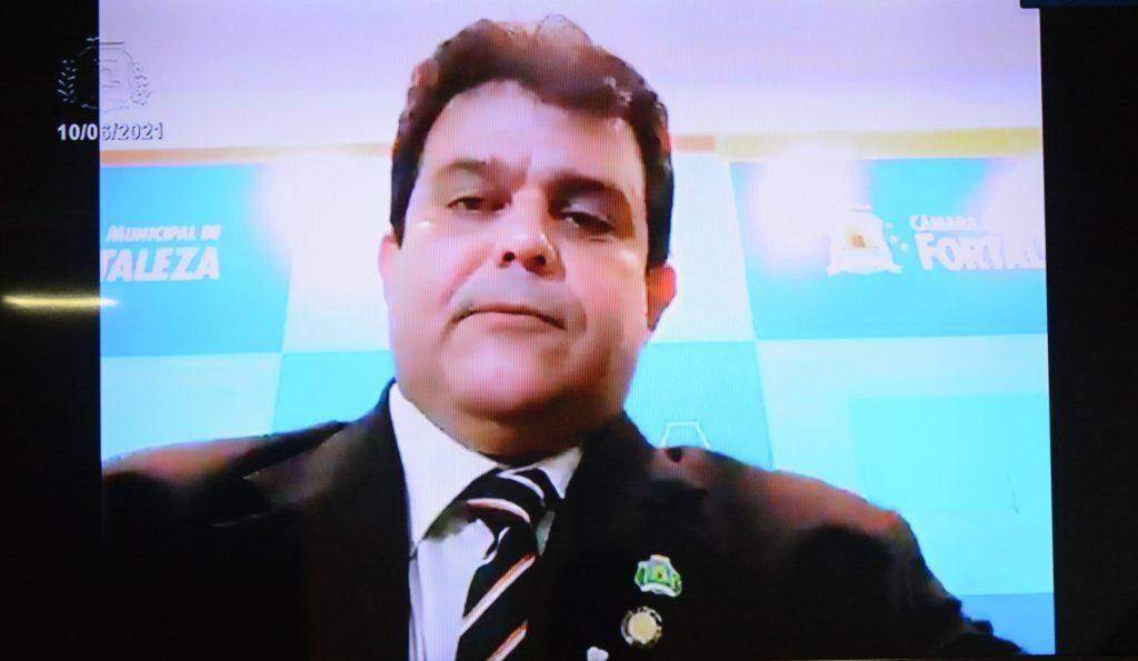 Sessão plenária Vereador Jorge Pinheiro Data: 10.06.2021 Foto: Érika Fonseca