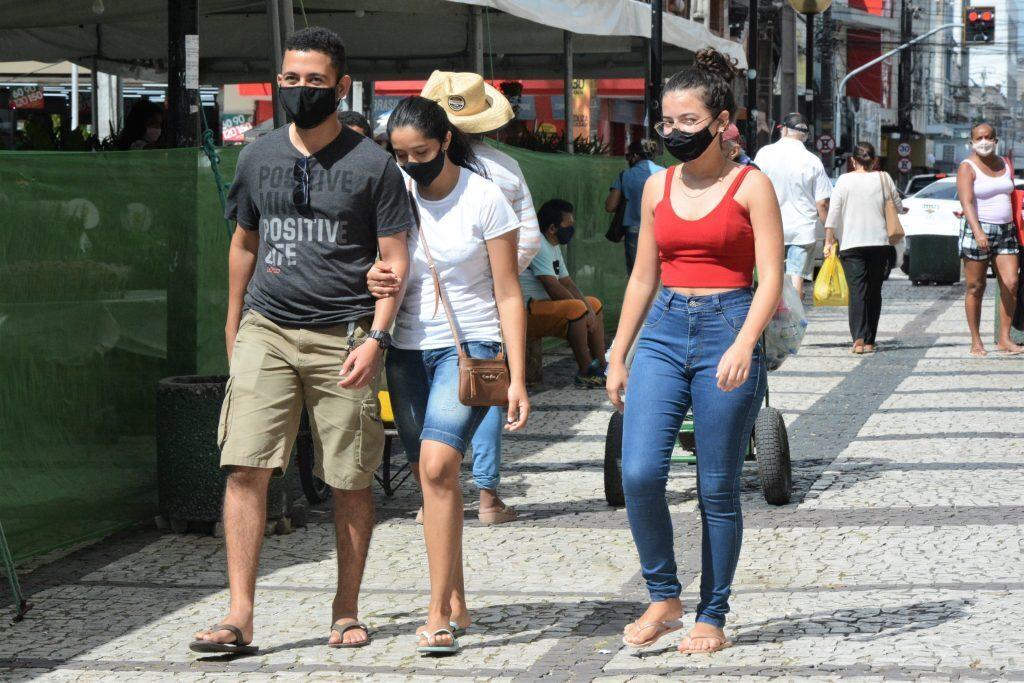 Movimentação pelas ruas de Fortaleza Data: 21.07.2021 Foto: Érika Fonseca